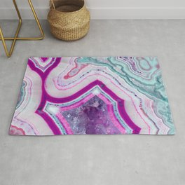 Cotton Candy Agate Slice Rug
