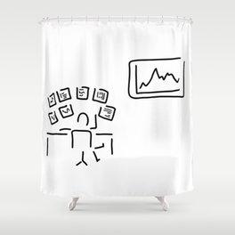 stock exchange stockbroker fund manager Shower Curtain