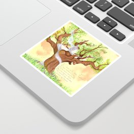 The concentrated Lady of the Oak Sticker