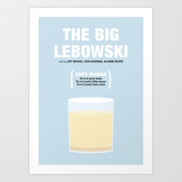 THE BIG LEBOWSKI _MOVIE COCKTAIL_ Coen Brothers Art Print