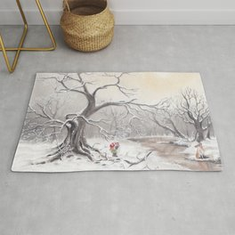 Gnome and fox Rug