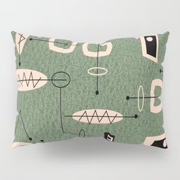 Mid-Century Atomic Green Abstract Pillow Sham