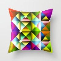metallic Throw Pillows featuring Metallic by dogooder