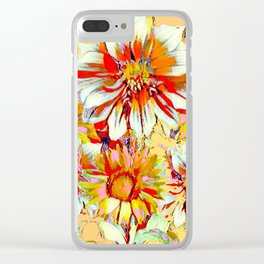 WHITE-RED FLOWER STILL LIFE CREAMY PASTELS Clear iPhone Case