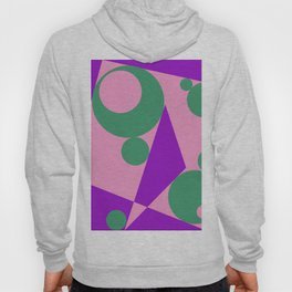 Different shapes illustration, geometric abstraction. Hoody