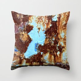 Colors of Rust 008, ROSTart Throw Pillow