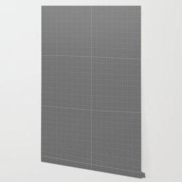 Dim Grey Gingham Wallpaper