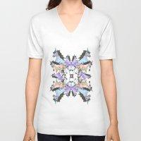 unicorns V-neck T-shirts featuring Unicorns by abbykaye