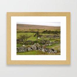Sheep Amidst English Ruins Framed Art Print