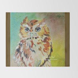 Screech Owl Throw Blanket