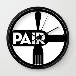 Food And Wine Pairing Wall Clock