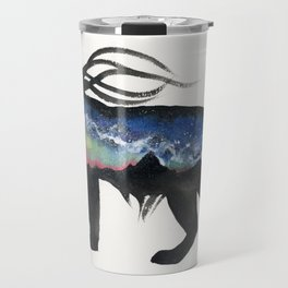 Aurora Milky Way Lynx. Travel Mug