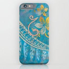 Ocean Splash Tribal Threads iPhone Case