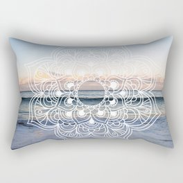 Flower shell mandala - shoreline Rectangular Pillow