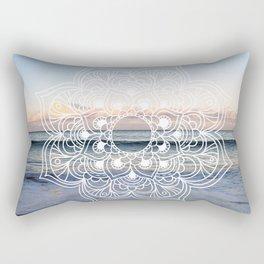 Flower shell mandala - shoreline Rectangular Pillow