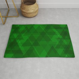 Bright green triangles in intersection and overlay. Rug