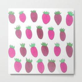 Sweet Strawberries Metal Print