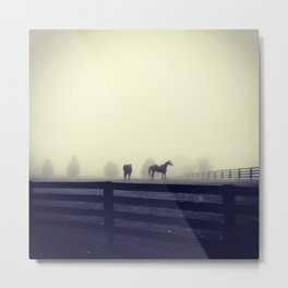 Horses of the Mist Metal Print