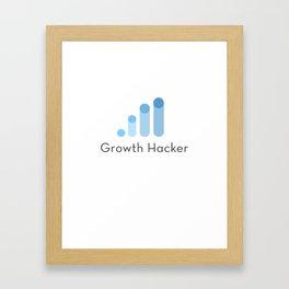 Growth hacker Framed Art Print