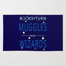 POTTER - BOOKS TURN MUGGLES INTO WIZARDS Rug