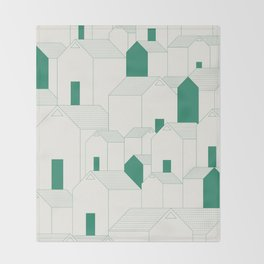 Hill Houses Throw Blanket