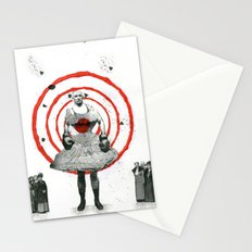 Woman with stones Stationery Cards