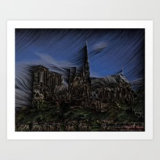 Hurricane wind Art Print