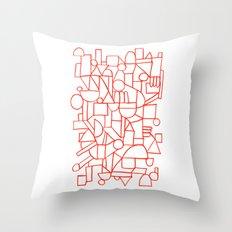 Rad lines Throw Pillow