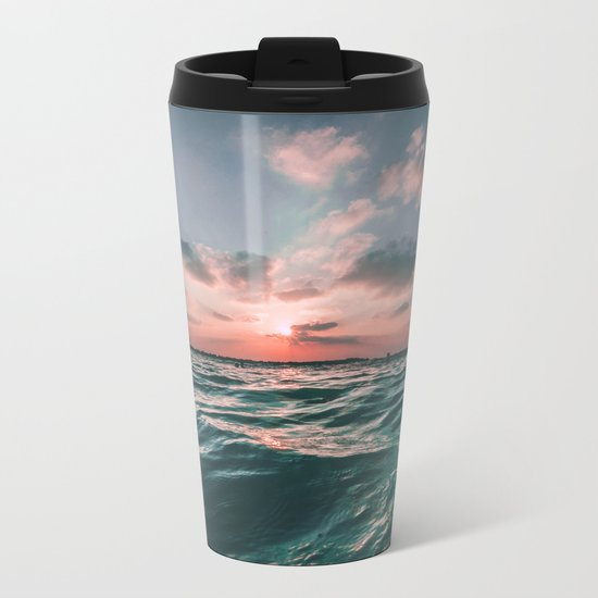 Deep Green Float Metal Travel Mug