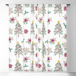 Christmas Pattern Blackout Curtain