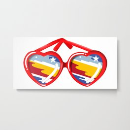 California Girl Sunglasses Metal Print