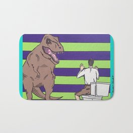 "Jurassic Park ""Died on the Shitter"" Bath Mat"