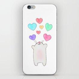 cat love iPhone Skin