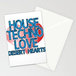 """House Techno Love Dessert Heart"" tee design for techno lovers like you! Makes a nice gift too!   Stationery Cards"
