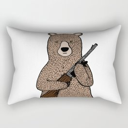 Danger bear color mode Rectangular Pillow