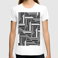 striped T-shirts featuring STRIPED PATCHWORK by Louisa Hereford