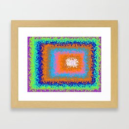 Fluid Neon Rectangle Art Framed Art Print