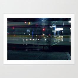 Midnight Ghost Train Art Print