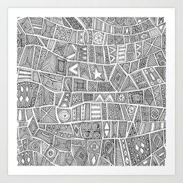 ESHE black white Art Print