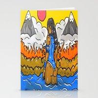 korra Stationery Cards featuring Korra by TheArtGoon