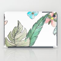 leah flores iPad Cases featuring flores by Lua Fraga