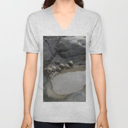 Limpets on the Edge of a Rockpool Unisex V-Neck