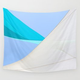 Abstract Sailcloth c1 Wall Tapestry