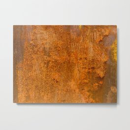 Abstract Rust Wall Metal Print