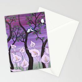 calla lilies & tree swallows Stationery Cards