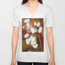 Mullberry Silkworm Cocoons Unisex V-Neck
