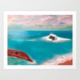 Aloha Kai Art Print