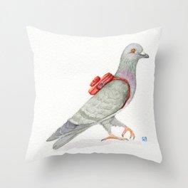 Little Messenger Pigeon Throw Pillow