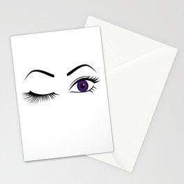 Violet Wink (Left Eye Open) Stationery Cards