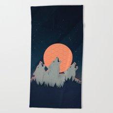 Howling Moon Beach Towel